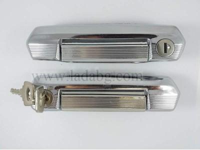 Locks set with handles chrome Lada Niva