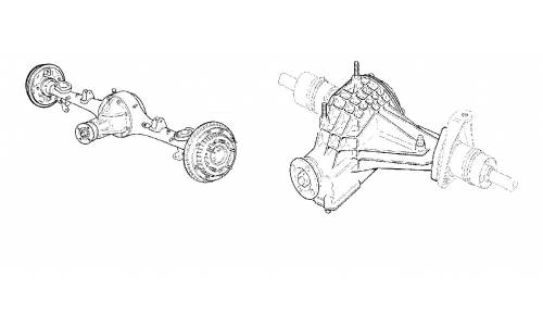 Front and rear axles
