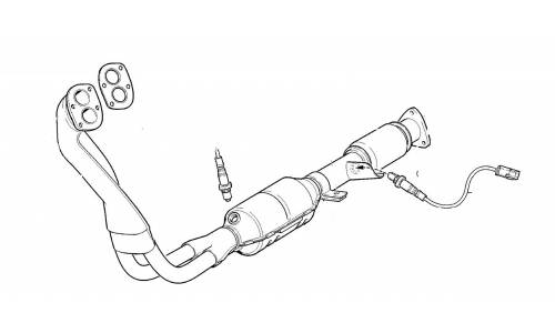 Exhaust and pots for Lada Niva