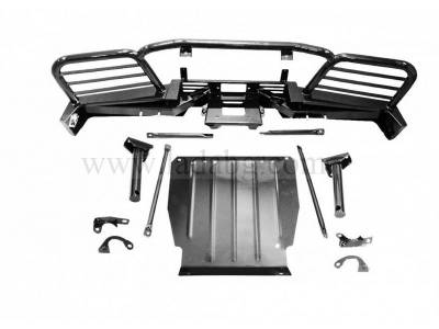 Front power bumper for mounting on a Lada Niva winch