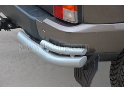Rear Bumper Protection LADA LEVELS-double corner tubes