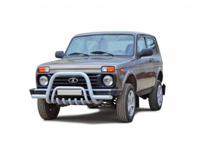 Rollbar with crankcase and Lada Niva bumper protection
